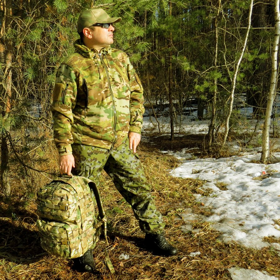 Рюкзак KE Tactical Assault 40л Polyamide 1000 Den multicam со стропами multicam